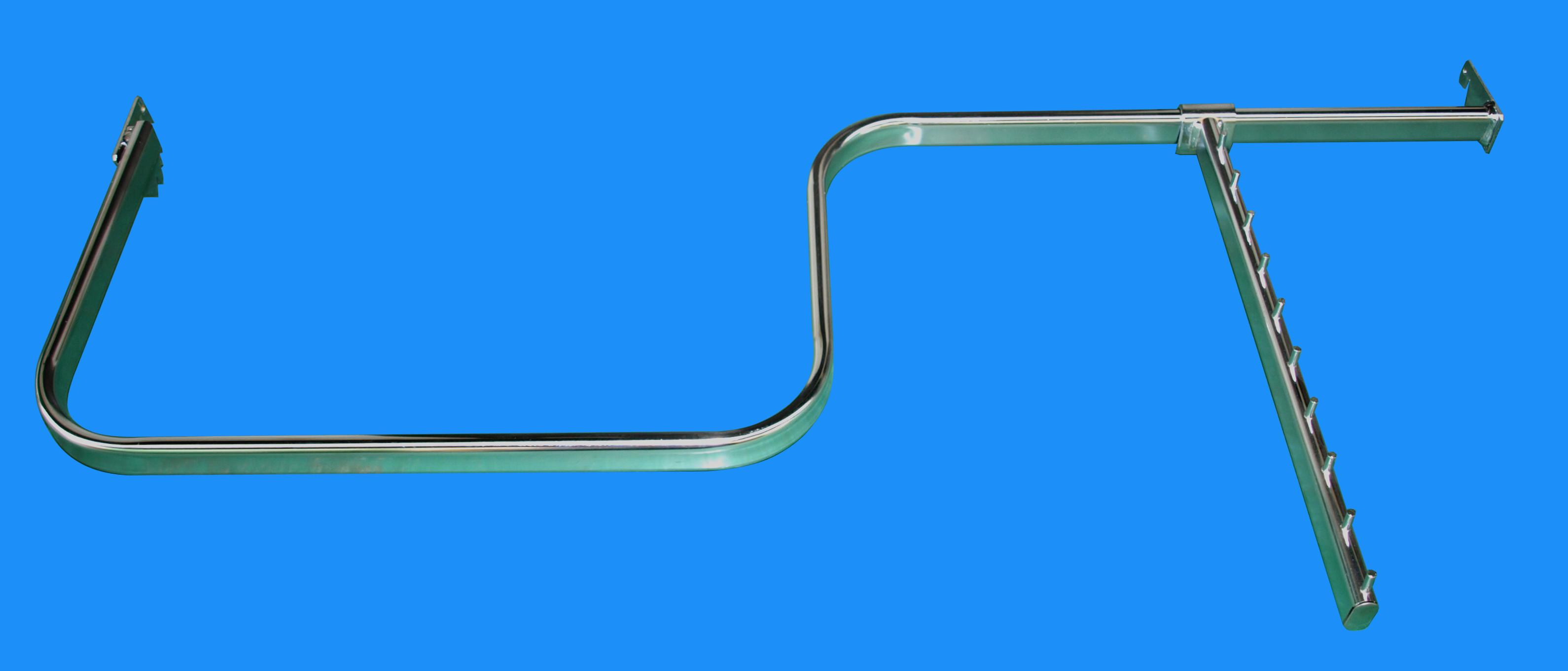 prostokątny pałąk chromowany