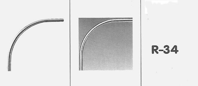 profil koła o promieniu 94 cm.