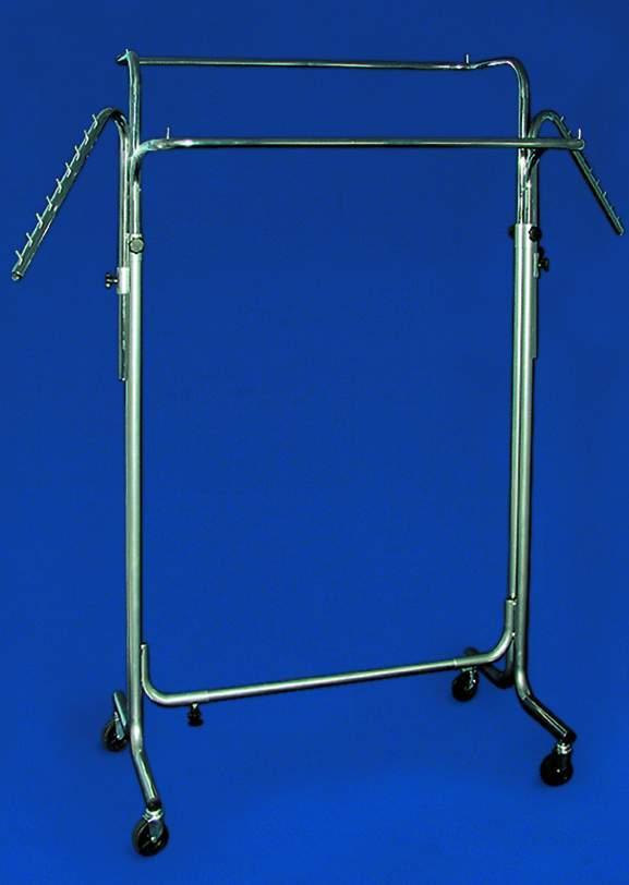Chromowany stojak dwustronny z ramionami